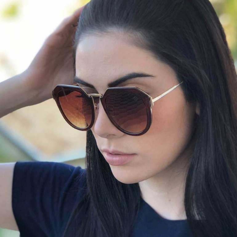 Óculos de Sol Alexia Marrom