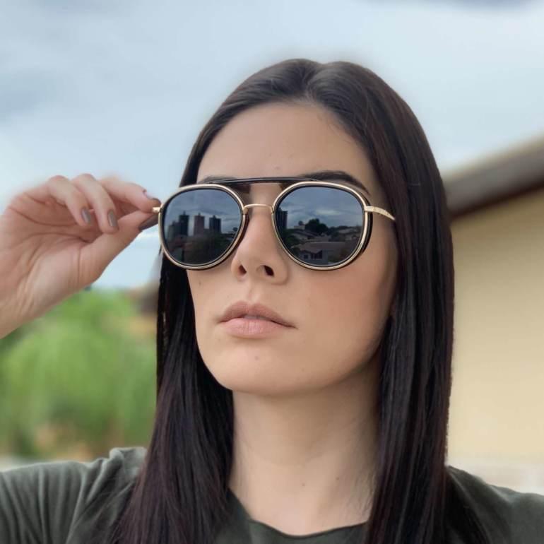 saline.com.br oculos de sol aviador buzios preto com dourado 1