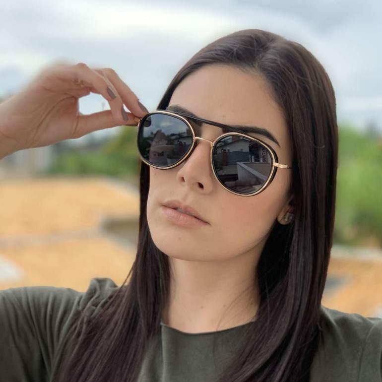 saline.com.br oculos de sol aviador buzios preto com dourado 3