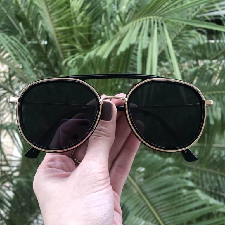 saline.com.br oculos de sol aviador buzios preto com dourado 4