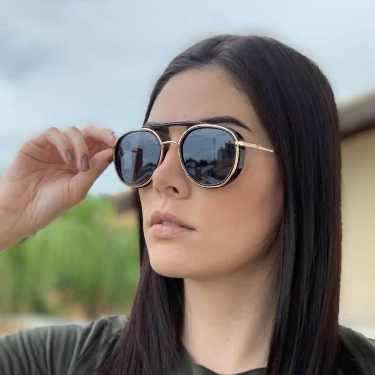 saline.com.br oculos de sol aviador buzios preto com dourado