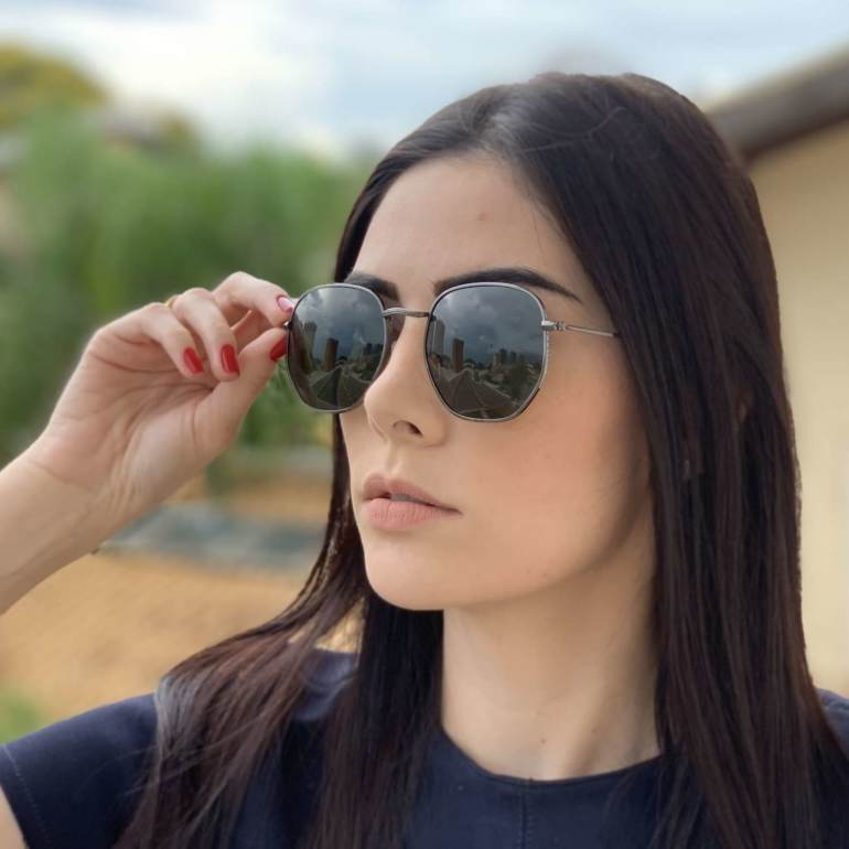 saline.com.br oculos de sol hexagonal polarizado verde 1