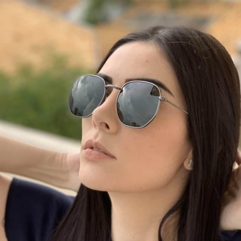 saline.com.br oculos de sol hexagonal polarizado verde 3