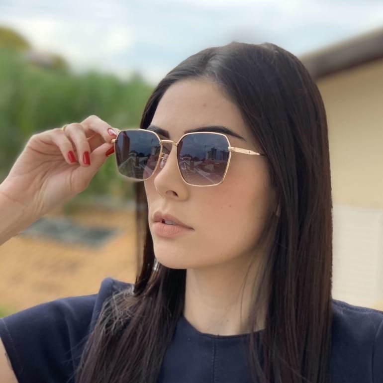 saline.com.br oculos de sol quadrado isis dourado