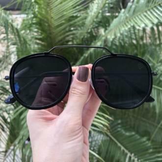saline.com.br oculos de sol hexagonal ivy preto 3