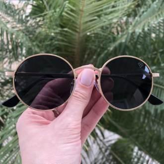 saline.com.br oculos de sol redondo gabi dourada