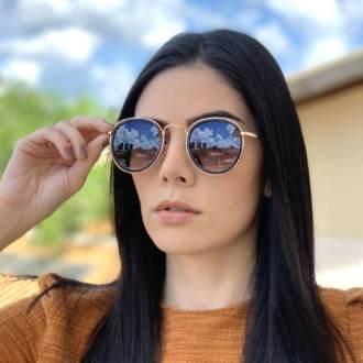 saline.com.br oculos de sol redondo maite 2 0 dourado com preto 2