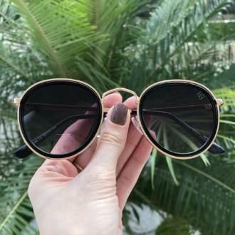 saline.com.br oculos de sol redondo maite 2 0 dourado com preto 3