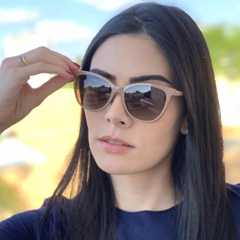 saline.com.br oculos de grau 2 em 1 gatinho new nude 1