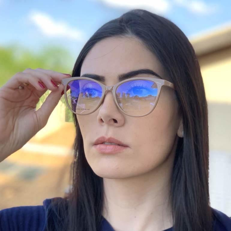 saline.com.br oculos de grau 2 em 1 gatinho new nude 2