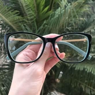 saline.com.br armacao de grau gatinho mari preto com verde 3