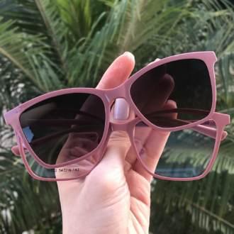 saline.com.br oculos de grau 2 em 1 gatinho vivi rosa