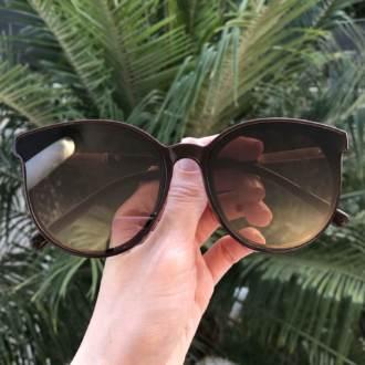 saline.com.br oculos de sol redondo marrom nadia
