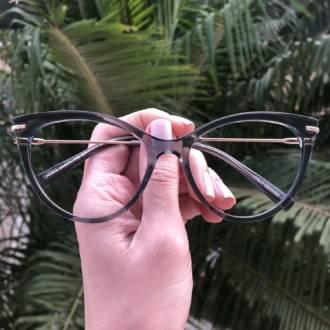 safine com br oculos de grau gatinho cinza transparente katy 3