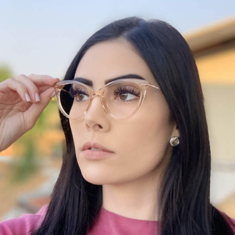 safine com br oculos de grau gatinho dourado transparente katy 2