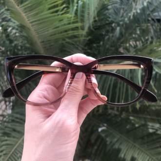safine com br oculos de grau gatinho marrom com transparente silvia 3