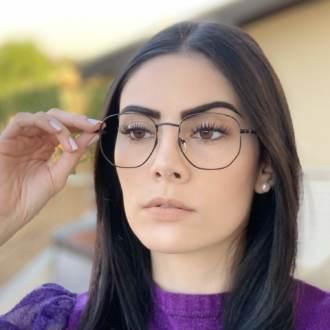 safine com br oculos de grau hexagonal preto lais 2