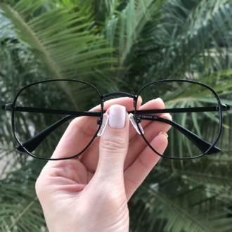 safine com br oculos de grau hexagonal preto lais 3
