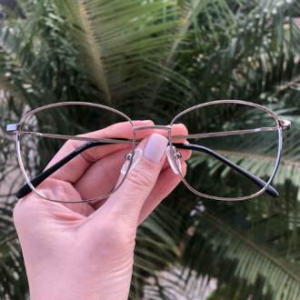 safine com br oculos de grau quadrado prata lila 4