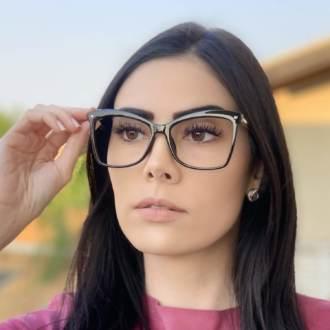 safine com br oculos de grau quadrado preto luma 3