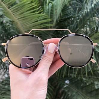 safine com br oculos de sol redondo espelhado ivy new