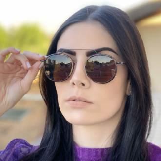 safine com br oculos de sol redondo marrom com tartaruga ivy new 1