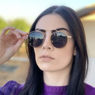 safine com br oculos de sol redondo preto com tartaruga ivy new 1