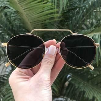 safine com br oculos de sol redondo preto com tartaruga ivy new 3