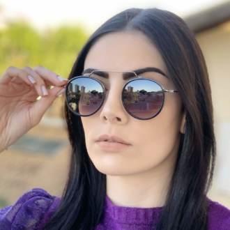 safine com br oculos de sol redondo preto degrade ivy new 1