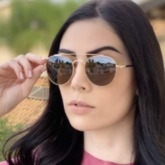 saline.com.br oculos de sol aviador tifany dourado com marrom 1