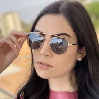 saline.com.br oculos de sol aviador tifany dourado com preto 2