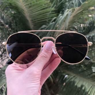 saline.com.br oculos de sol aviador tifany dourado com preto copia