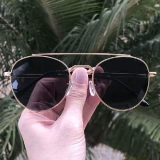 saline.com.br oculos de sol aviador tifany dourado com preto 4