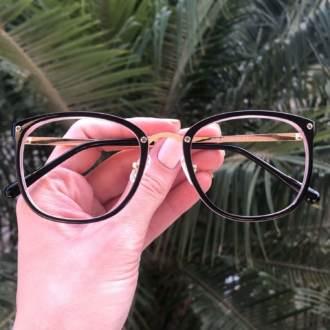 safine com br oculos de grau quadrado preto com rosa clau