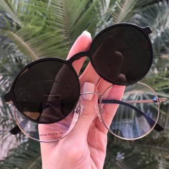 safine com br oculos 2 em 1 redondo grafite com preto lolo 3