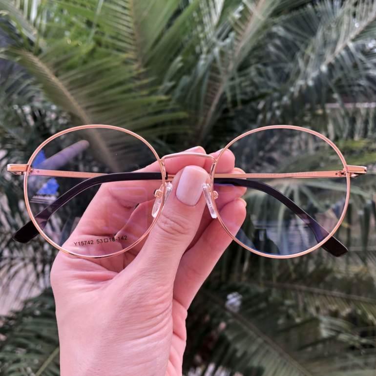 safine com br oculos 2 em 1 redondo marrom com rose lolo 1