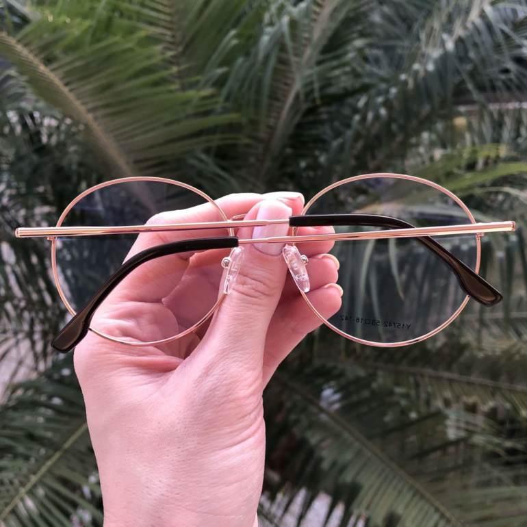safine com br oculos 2 em 1 redondo marrom com rose lolo 2
