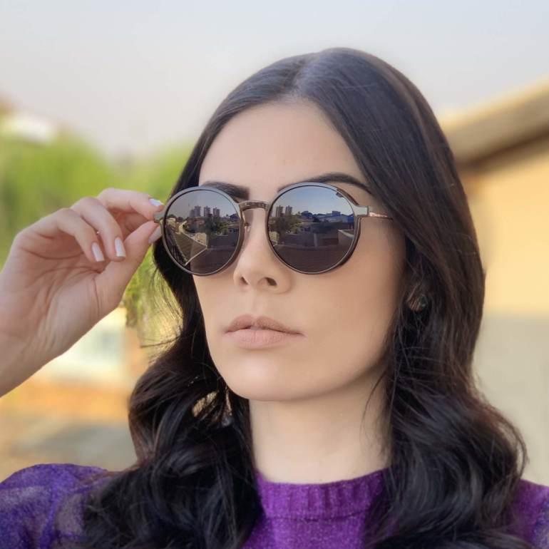 safine com br oculos 2 em 1 redondo marrom com rose lolo 3
