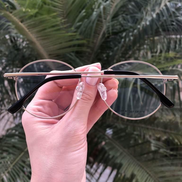 safine com br oculos 2 em 1 redondo preto com prata lolo 5