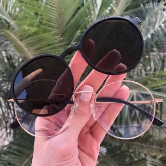 safine com br oculos 2 em 1 redondo preto fosco com dourado lolo 3