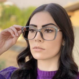 safine com br oculos de grau quadrado azul sue 1