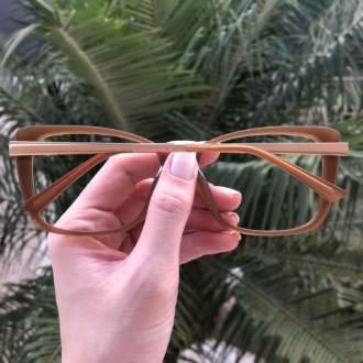 safine com br oculos de grau quadrado caramelo sue 1