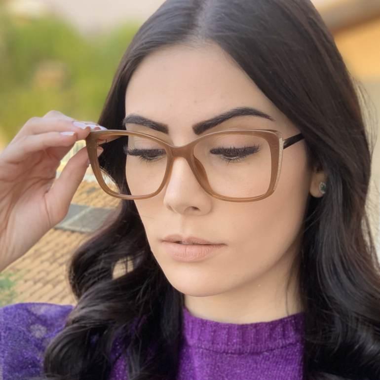 safine com br oculos de grau quadrado caramelo sue 3