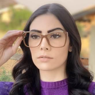 safine com br oculos de grau quadrado caramelo sue 4