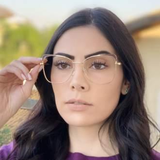 safine com br oculos de grau quadrado dourado com marrom eli 2