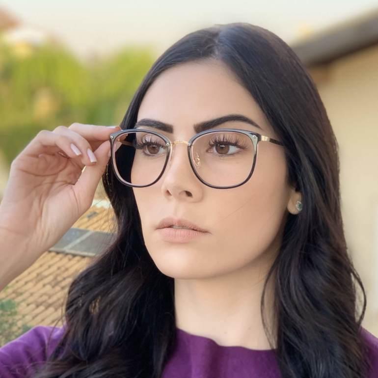 safine com br oculos de grau quadrado preto com rosa clau 1