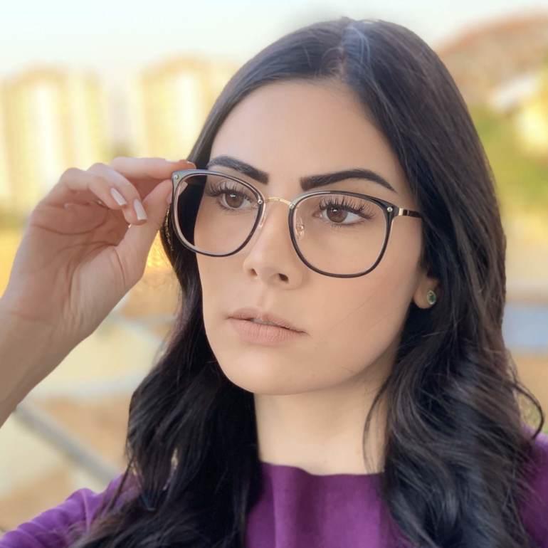 safine com br oculos de grau quadrado preto com rosa clau 2