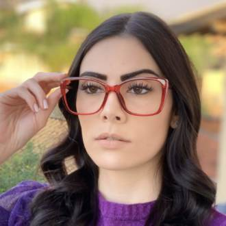 safine com br oculos de grau quadrado vermelho sue 3