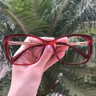 safine com br oculos de grau quadrado vermelho sue