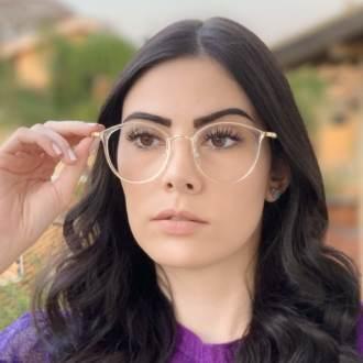 safine com br oculos de grau redondo azul transparente bru 2